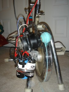Stationary Bike Generator Close-Up