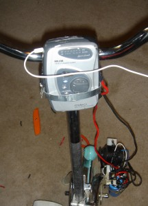 Stationary Bike Generator WalkManClose-Up