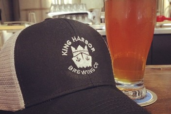 King Harbor hat and beer
